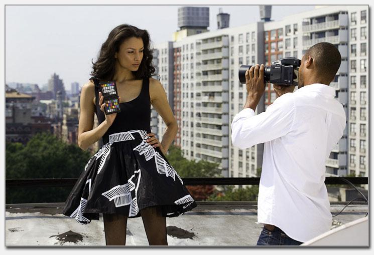 Passport model shoot